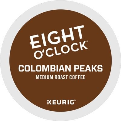 Eight O Clock Coffee Colombian Peaks, Keurig K-cup Pods, Medium Roast Coffee, 96 Count by Eight O'Clock Coffee