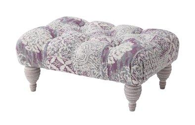 ロースツール ローチェア 椅子 いす 腰掛いす 高さ23cm 天然木 木製 フレンチ アンティーク風 ビンテージ ヨーロピアン シンプル デザイン 姫系 お姫様 可愛い かわいい (パープル) B01N40OC75  パープル