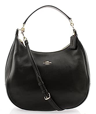 Coach Harley Hobo in Pebble Leather, F38259 (Black)