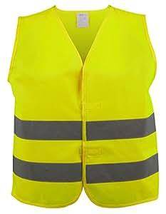 Walser 43972 Chaleco reflectante talla S para niños de 7-10 años, amarillo