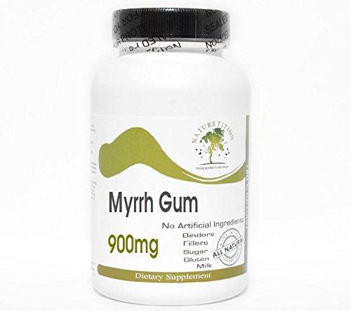 Myrrh Gum 900mg ~ 200 Capsules - No Additives ~ Naturetition Supplements