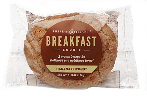 Susie's Smart Breakfast Cookie Banana Coconut Breakfast Cookie, , 3.5 Ounce (Pack of 18)]()
