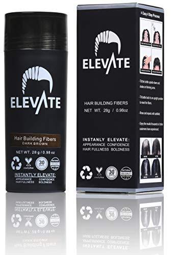 ELEVATE Hair Fibers 100% Natural Keratin Hair Fibers Instantly Thickens Thinning or Balding Hair for Men and Women - Natural Hair Loss Concealer 28g 0.98oz (Toppik Hair Fibers)