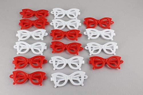 Cats Eye Sunglasses Barrette Pack 16 Cat Eyes Sunglasses Barrettes Red White Girls Headbands For Women