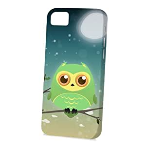 Case Fun Apple iPhone 5C Case - Vogue Version - 3D Full Wrap - Green Owl by DevilleART