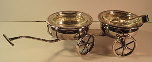 Wagon Condiment Server with Glass Inserts & Tong, FB for sale  Delivered anywhere in USA