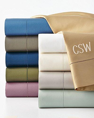 Ralph Lauren RL 624 Solid Sateen King Flat Sheet - Tweed Green