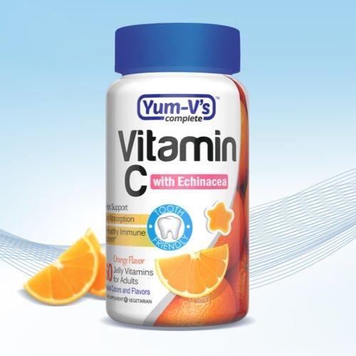Yum V's Vitamin C with Echinacea Orange Flavor 60 Jellies