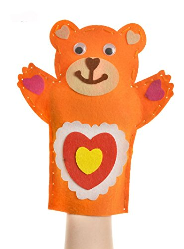Fullfun DIY Cute Cartoon Animal Doll Hand Puppets Kids Glove Finger Educational Toy (K) ()