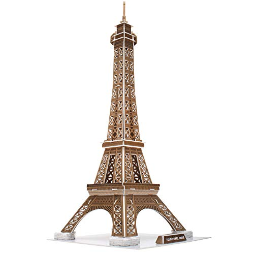 CubicFun 3D French Puzzles Small Paris Architecture Building Paper Model Craft Kits Toys for Adults and Teens, Eiffel Tower, 71 Pieces]()