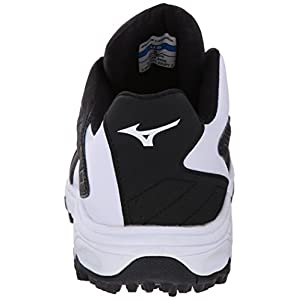 Mizuno Men's 9 Spike Advanced Erupt 3 Softball Cleat, Black/White, 10 M US