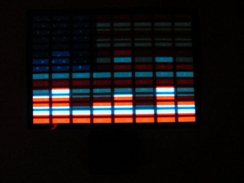 United States USA American Flag FLASHING Sound Activated DJ Light Up LED Decal Sticker Patch Panel