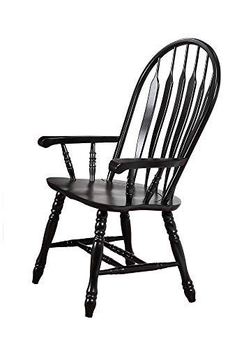 (Sunset Trading DLU-4130-AB-A Black Cherry Selections Dining Chair, 41