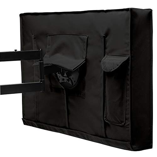 - LXLA - Patio TV Cover - Outdoor Weatherproof Universal Protector for LCD/LED/Plasma Television - Black (Size : 60-65inch)