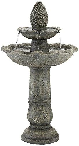 Cheap Pineapple Garden 35″ H Gray 2-Tier Indoor/Outdoor Fountain