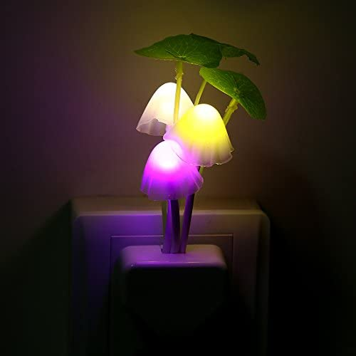 3f34a9e70 Buy Night Light Mushroom Lamp Energy Saving Color Changing LED Sensor Night  Lamp Light Green Plants on the Wall Online at Low Prices in India -  Amazon.in