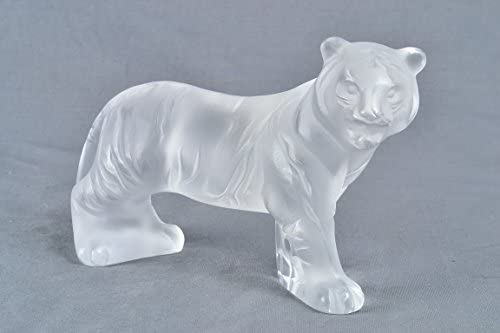 Lalique Frosted Crystal Bengal Tiger Retired