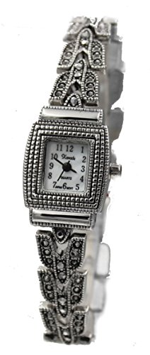 Used, Exclusive Vintage Style Square Marcasite Ladies Bracelet for sale  Delivered anywhere in USA