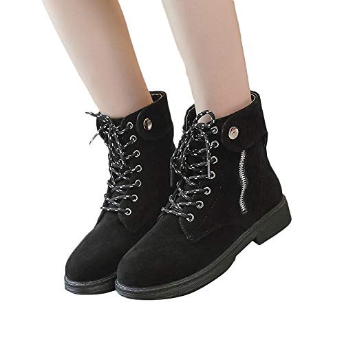 Lace Black Shoes Women Shoes Sneakers Zipper White Flat Up Single Top JERFER High 40 35 Leisure Shoes Leather Black wUqXxTB0