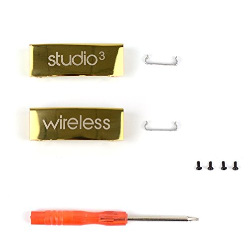 Studio 3 Hinge Replacement Metal Folding Hinges Repair Parts Kit/Metal Connector Compatible with Studio 3 Wireless Over-Ear Headphones (Gold)