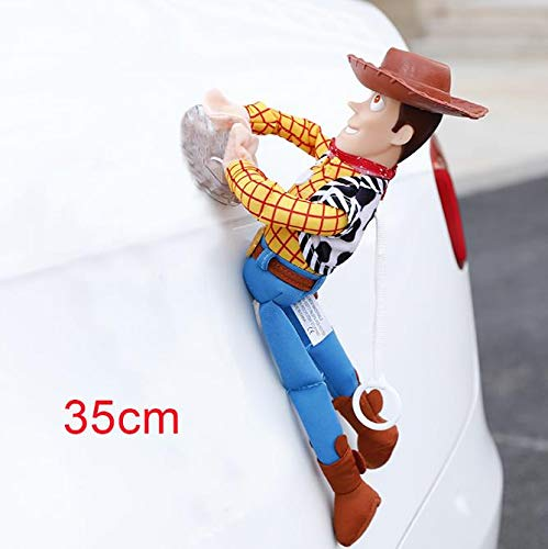 BoldType Kakao Friend - Lovely Toy Story Sherif Woody Car Doll Plush Toys Outside Hang Toy Cute Auto Accessories Car Decoration Toy 25/35/45CM 1 PCs ()