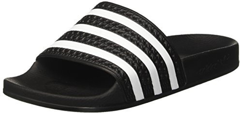 adidas Adilette, Men's Beach & Pool Shoes Black/White/Black