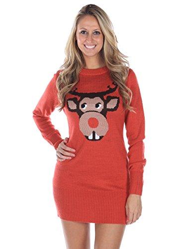 Bucktooth Rudolph Christmas Sweater Dress Buy Online In Uae