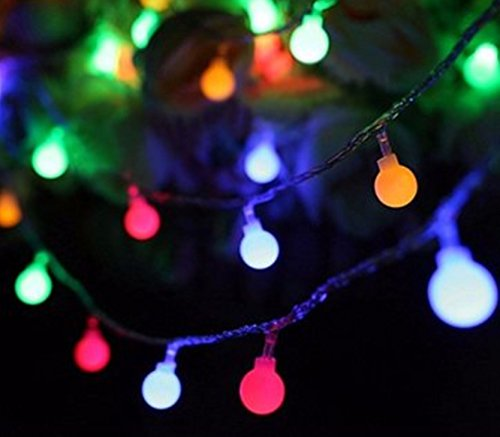 Color:Colorful # Battery Powered 3M 20 LED Ball Fairy String Light Outdoor Christmas Wedding Xmas Party Decor by Superjune