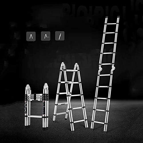 XSJZ Escalera Plegable de Aluminio, Escalera Articulada Grande de Elevación Plegable Con La Escalera Móvil de La Polea Conveniente para La Escalera Ascendente Interior Y Al Aire Libre Del Emplazamient: Amazon.es: Hogar
