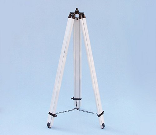 Floor Standing Admiral's Oil-Rubbed Bronze-White Leather Binoculars 62''