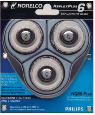 Amazon.com  Norelco HQ55PLUS (HQ55) Replacement Heads For Shaver ... 132eaccf6c