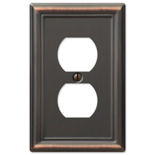 HowPlumb Decorative Wall Switch Outlet Cover Plates (Oil Rubbed Bronze, Duplex) price tips cheap