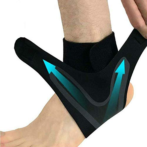 Ankle Brace for Men and Women, Tuscom Adjustable Ankle Support Wrap Elastic Ankle Guard Compression Foot Sleeves, for Sport, Plantar Fasciitis, Achilles Tendo, Sprains, Ankle Strain (Medium)