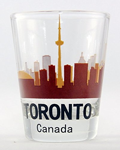 Toronto Canada Sunset Skyline Shot Glass