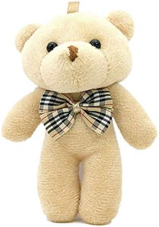 Lifet bambola di Natale portachiavi fai da te bambola regalo bianco con ciondolo a forma di orsetto siamese in peluche a forma di orsetto ornamenti da appendere 5 pezzi giocattolo