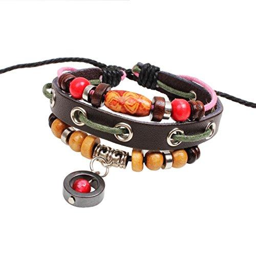 Price comparison product image Desklets Boys / Girls Fashionable Vintage Braided Rope Beaded Elegant Alloy Charm Bracelets(Bead)
