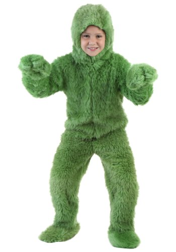 [Big Girls' Green Furry Jumpsuit Large] (Child Grinch Costumes)
