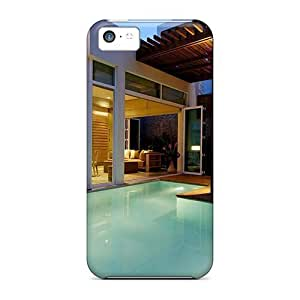 High Grade Charming YaYa Flexible Tpu Case For Iphone 5c - Beautiful Holiday Apartment Swimming Pool