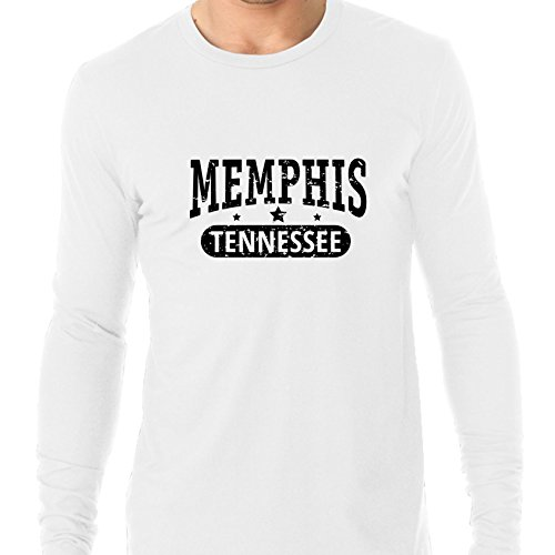 Trendy Memphis, Tennessee With Stars Men's Long Sleeve T-Shirt