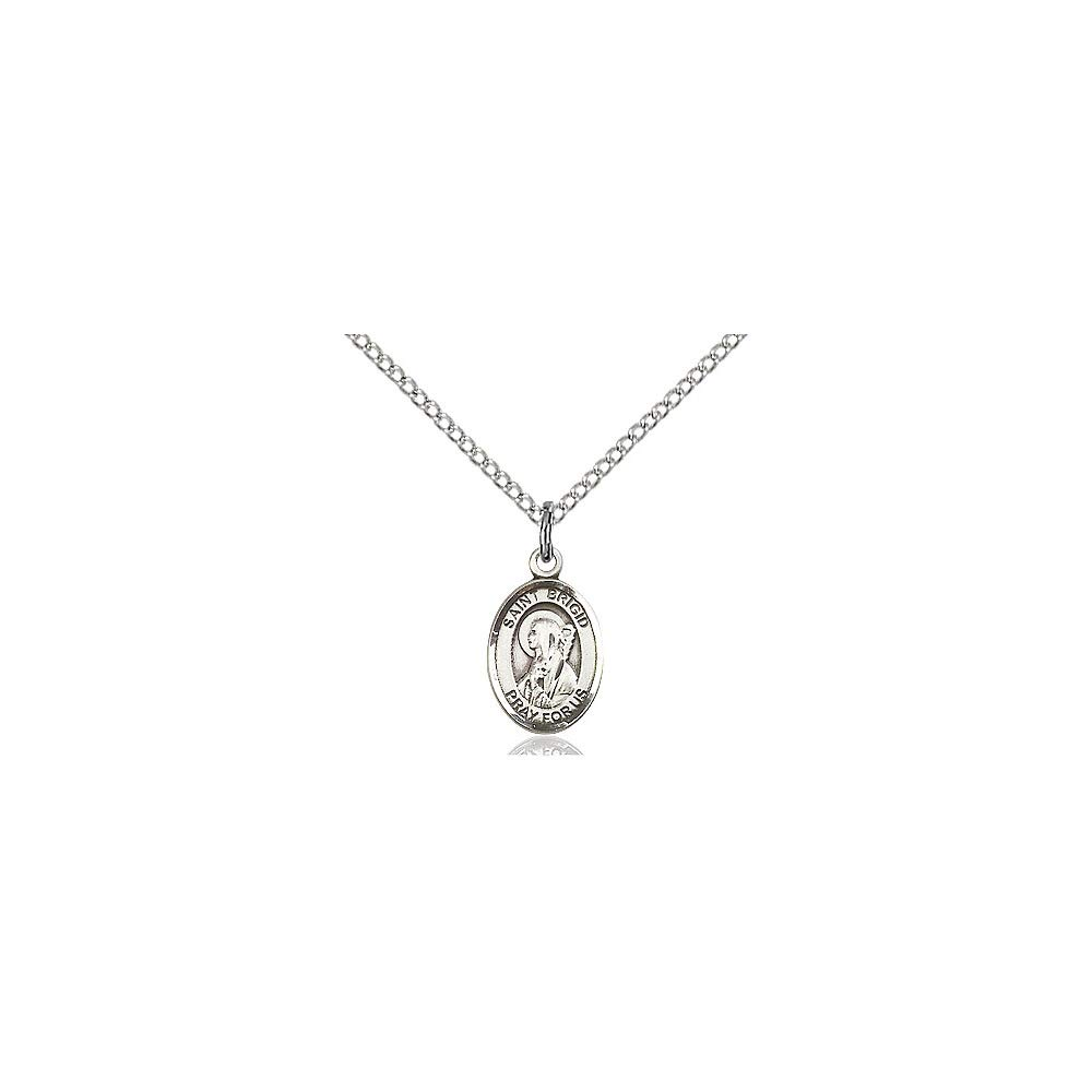DiamondJewelryNY Sterling Silver St Brigid of Ireland Pendant