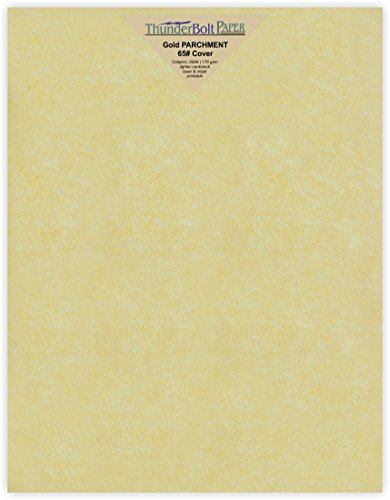 50 gold parchment 65lb cover weight paper 8 5 x 11 inches cardstock