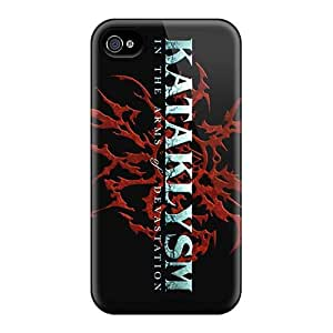 High Quality Hard Phone Cover For Apple Iphone 4/4s (VBa15655GZmA) Allow Personal Design Stylish Kataklysm Band Series