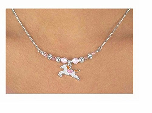 Children's White Horse Necklace & Earring Set by Lonestar Jewelry