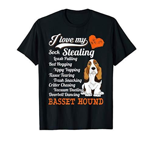 I Love My Sock Stealing - Leash Pulling Basset Hound Shirt