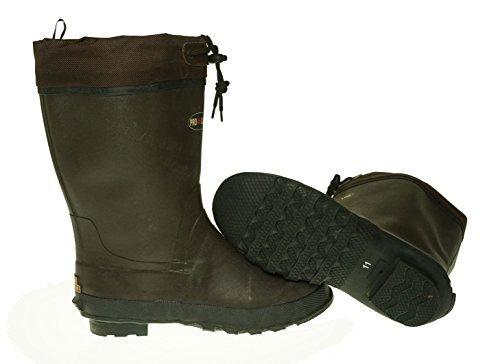 Pro Linje Mens Gummi Pac Boot Vattentät Stövlar Chokladbrun 10 M Oss
