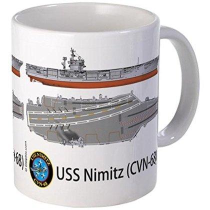11 ounce Mug - USS Nimitz CVN-68 Mug - S White