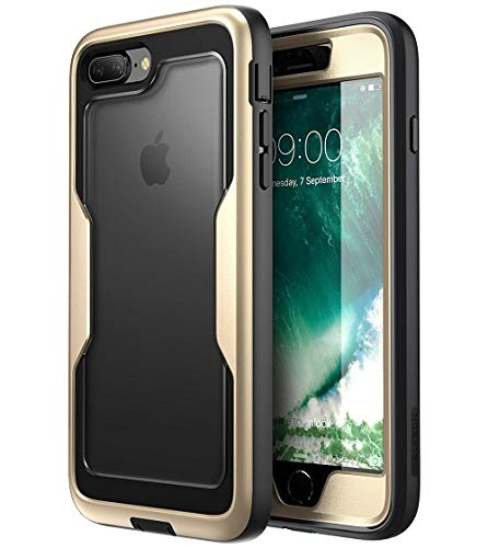 i-Blason case for iPhone 8 Plus 2017/iPhone 7 Plus, [Magma Series] [Heavy Duty Protection] Shock Reduction/Full Body Bumper Case with Built-in Screen Protector(Black) (Heavy Multi Glitter)