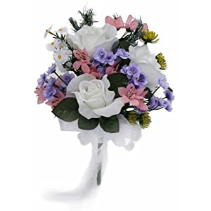 Wildflower Toss Bouquet - Silk Wedding Bridal Bouquet 58