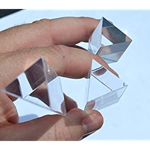 """EISCO PH0554SET Eisco Labs Equilateral Acrylic Prisms (1""""/25mm sides), Set of 3 Prisms - 1"""" (25mm), 2"""" (50mm), 4"""" (100mm) Lengths"""