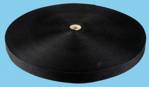 1 Inch 50 YDS Black Polypro Webbing, Outdoor Stuffs